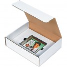"11 1/8 x 8 3/4 x 2"" White CD Literature Mailer Kits"
