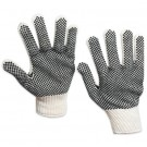 PVC Black Dot Knit Gloves - Small
