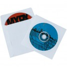 "4 7/8 x 5"" Paper Windowed White CD/DVD Sleeves"