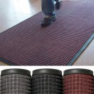 3' x 10' Medium Gray Deluxe Rubber Backed Carpet Mat