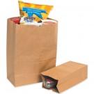 """3 3/4 x 2 1/4 x 11 1/2"""" Kraft Grocery Bags"""