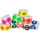 "1"" Circle - ""1"" (Fluorescent Green) Number Labels"