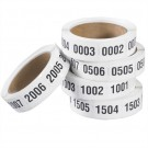 "1 x 1 1/2"" (0001-0500) Consecutive Numbered Labels"