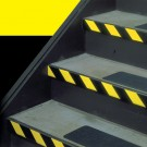 "2"" x 36 yds. Black/Yellow 3M™ 5702 Striped Vinyl Tape"