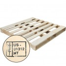 "48 x 48"" New Wood Heat Treated Pallet"