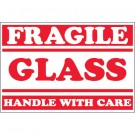 "2 x 3"" - ""Fragile - Glass - Handle With Care"" Labels"