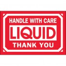 "2 x 3"" - ""Handle With Care - Liquid - Thank You"" Labels"
