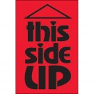 "2 x 3"" - ""This Side Up"" (Fluorescent Red) Labels"