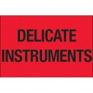 "2 x 3"" - ""Delicate Instruments"" (Fluorescent Red) Labels"