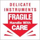 "3 x 3"" - ""Delicate Instruments - Fragile"" Labels"