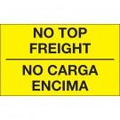 """3 x 5"""" - """"No Carga Encima"""" (Fluorescent Yellow) Bilingual Labels"""