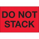 "2 x 3"" - ""Do Not Stack"" (Fluorescent Red) Labels"