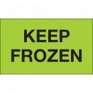 """3 x 5"""" - """"Keep Frozen"""" (Fluorescent Green) Labels"""