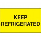 """3 x 5"""" - """"Keep Refrigerated"""" (Fluorescent Yellow) Labels"""