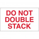 "3 x 5"" - ""Do Not Double Stack"" Labels"