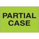 "2 x 3"" - ""Partial Case"" (Fluorescent Green) Labels"