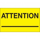 "3 x 5"" - ""Attention ___"" (Fluorescent Yellow) Labels"
