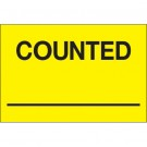 """2 x 3"""" - """"Counted ___"""" (Fluorescent Yellow) Labels"""