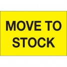 """2 x 3"""" - """"Move To Stock"""" (Fluorescent Yellow) Labels"""