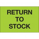"""2 x 3"""" - """"Return To Stock"""" (Fluorescent Green) Labels"""