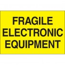 """2 x 3"""" - """"Fragile - Electronic Equipment"""" (Fluorescent Yellow) Labels"""