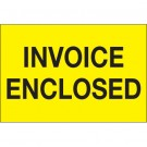 "2 x 3"" - ""Invoice Enclosed"" (Fluorescent Yellow) Labels"