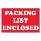"2 x 3"" - ""Packing List Enclosed"" Labels"
