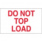 "3 x 5"" - ""Do Not Top Load"" Labels"