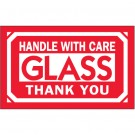 "3 x 5"" - ""Glass - Handle With Care"" Labels"