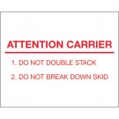 "8 x 10"" - ""Attention Carrier"" Labels"