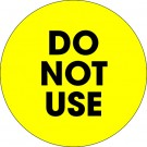 """2"""" Circle - """"Do Not Use"""" Fluorescent Yellow Labels"""