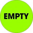 "2"" Circle - ""Empty"" Fluorescent Green Labels"