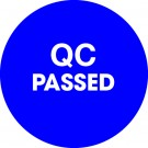 "1"" Circle - ""QC Passed"" Blue Labels"