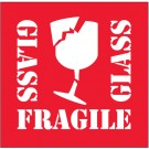 "4 x 4"" - ""Fragile - Glass"" Labels"