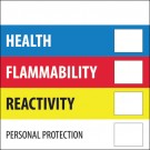 "2 x 2"" - ""Health Flammability Reactivity"""