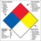 "2 x 2"" - ""Health Hazard Fire Hazard Specific Hazard Reactivity"""