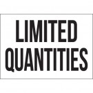 "7 x 10"" - ""Limited Quantities"" Vinyl Labels"