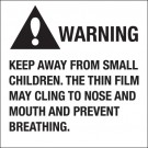 "2 x 2"" - ""Warning Keep Away From Small Children"""