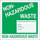 "6 x 6"" - ""Non-Hazardous Waste"" Labels"