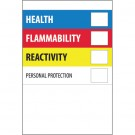 "2 x 3"" - ""Health Flammability Reactivity"""