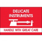 "2 x 3"" - ""Delicate Instruments - HWC"" - Fragile Labels"