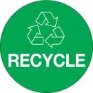 "3"" Green Circle ""Recycle"""