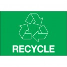 """2 x 3"""" Green Rectangle """"Recycle"""""""