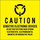 """2 x 2"""" - """"Sensitive Electronic Devices"""" (Fluorescent Yellow) Labels"""