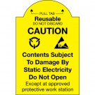 """2 x 3"""" - """"Pull Tab Reusable - Do Not Discard"""" Labels"""