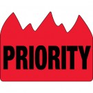 "1 1/2 x 2"" - ""Priority"" (Bill of Lading) Flame Labels"