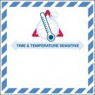 "4 1/4 x 4 1/4"" - ""Time And Temperature Sensitive"" Label"