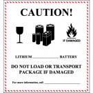 "4 5/8 x 5"" - ""Caution - Lithium Battery Handling"" Labels"
