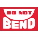 "3 x 5"" - ""Do Not Bend"" Labels"
