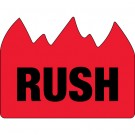 "1 1/2 x 2"" - ""Rush"" (Bill of Lading) Flame Labels"